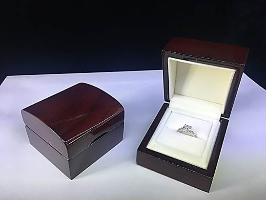 Wooden Box-Deluxe Wooden Ring Box